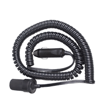 3m Coiled Extension Lead (Fused)