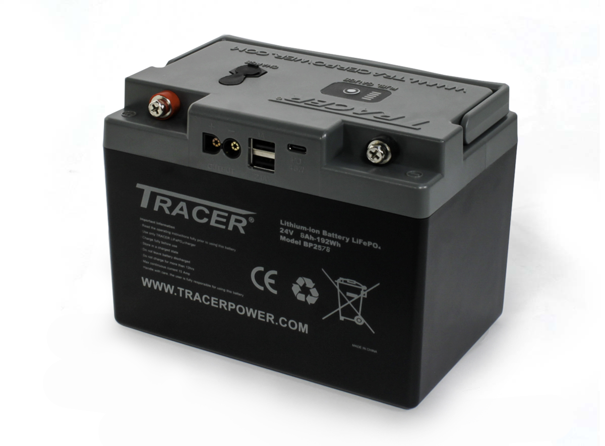 Tracer 24V 8Ah LiFePO4 Battery Pack