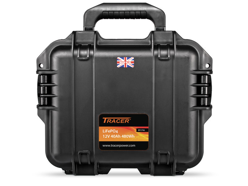 Tracer 12V 40Ah LiFePO4 Peli Case Kit